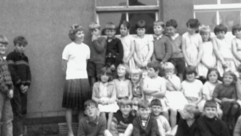 Hettie Williams as a young teacher at Pantglas Junior School