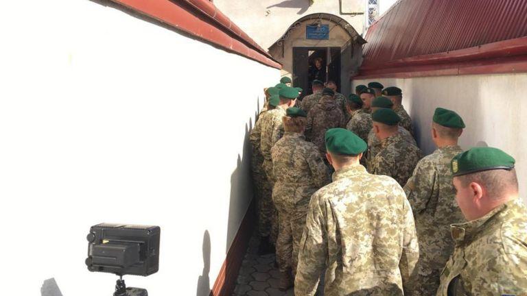 На суде присутствовали пограничники