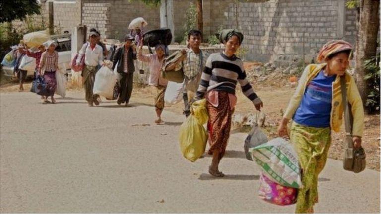 缅甸人民跪求国泰民安