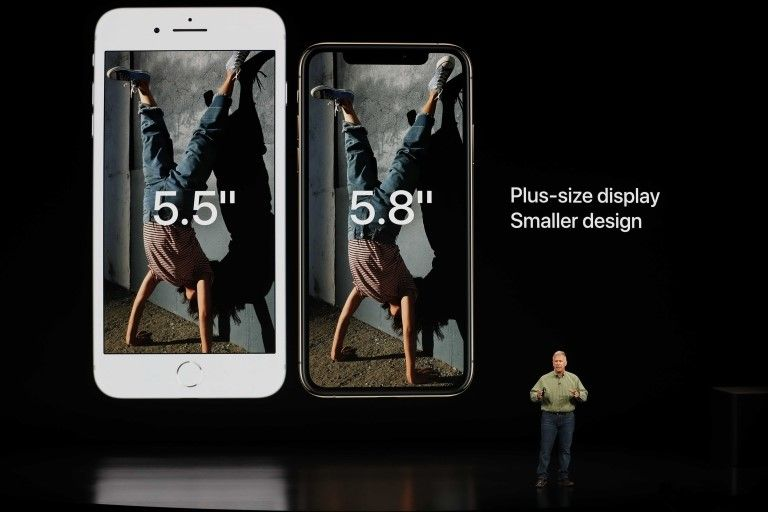 Comparación de pantallas de iPhone