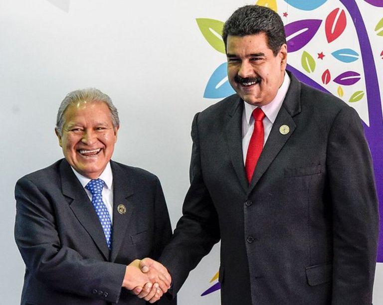 Sanchez Ceren y Maduro