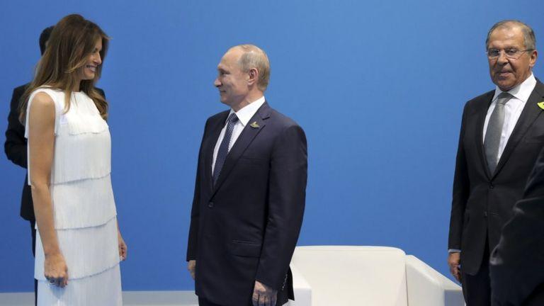 Путин и Мелания