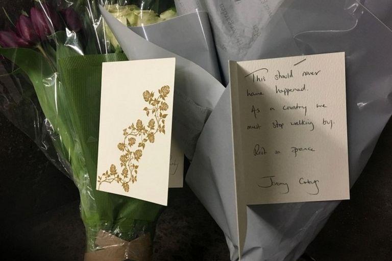 Card signed by Jeremy Corbyn