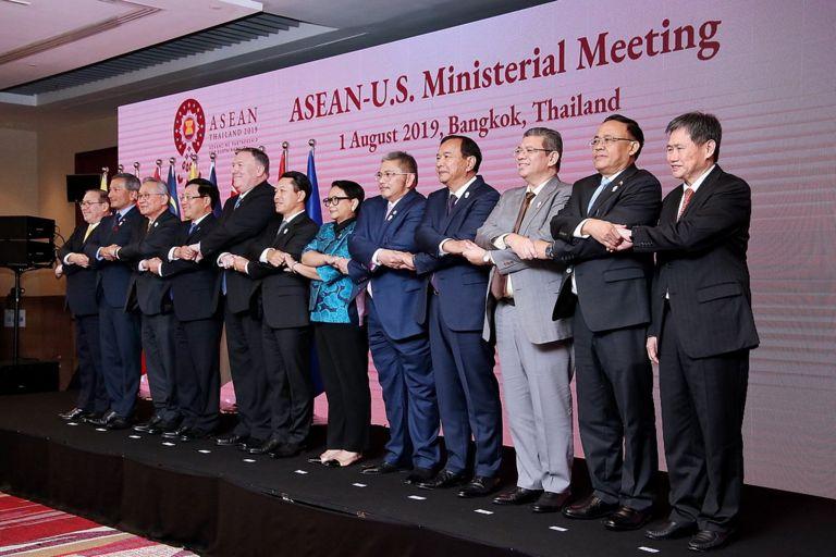 Hội nghị bộ trưởng ngoại giao các nước ASEAN và Mỹ , diễn ra vào tháng 8/2019 tại Bangkok, Thái Lan.