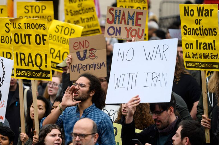 Protests were held in Washington about the drone strike
