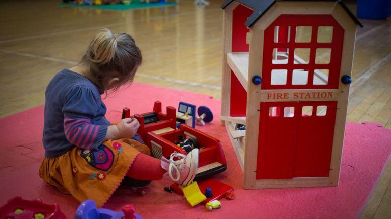 Child playing at nursery