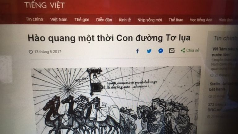 BBC Tiếng Việt là một trang thu hút nhiều bạn đọc trong vùng châu Á của BBC World Service