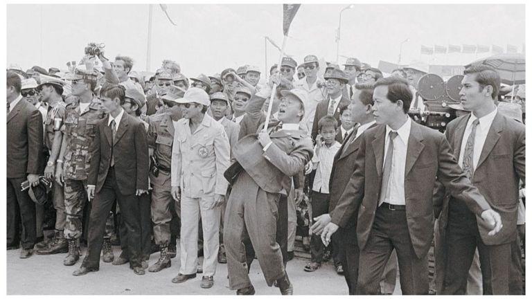 Tổng thống Nguyễn Văn Thiệu dự một sự kiện tháng 3/1973