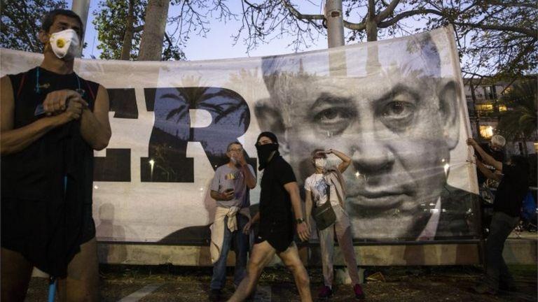 Митинг против Нетаньяху в Тель-Авиве (19/04/20)