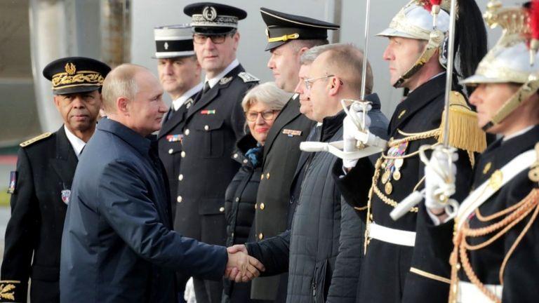 Russian President Vladimir Putin arrives at Paris' Charles-de-Gaulle airport, 9 December 2019