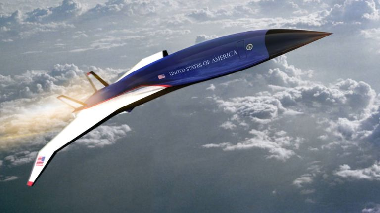 An illustration of the Hermeus hypersonic aircraft