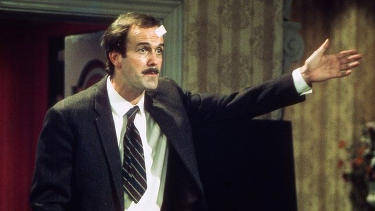 John Cleese as Basil Fawlty in The Germans, am episode of Fawlty Towers