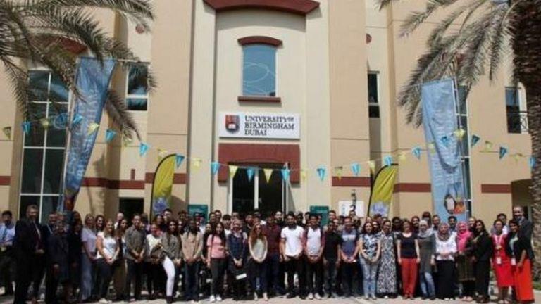 Staff at the University of Birmingham's Dubai campus