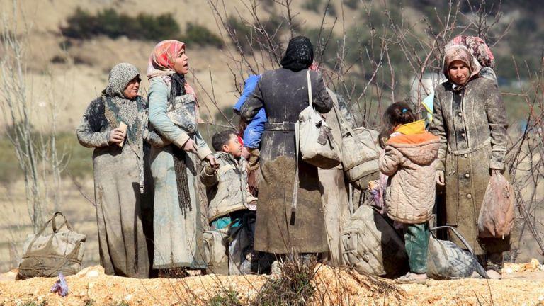 Deslocados sírios