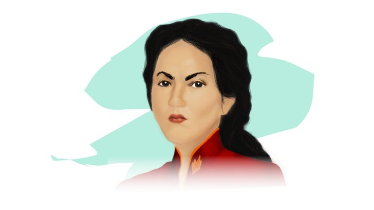 Ilustración de Juana Azurduy
