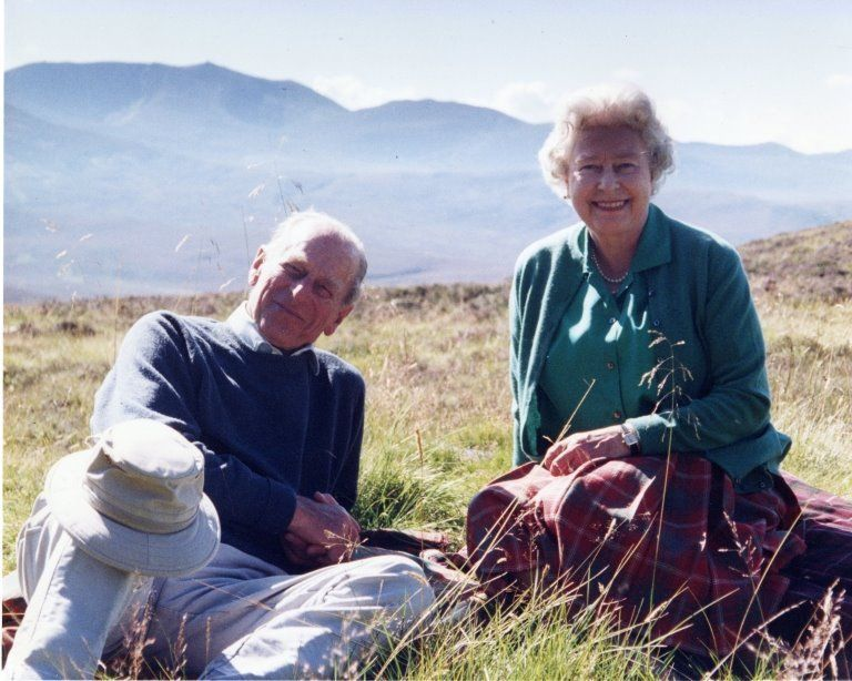 The Duke of Edinburgh and the Queen, pictured in the Scottish Highlands in 2003
