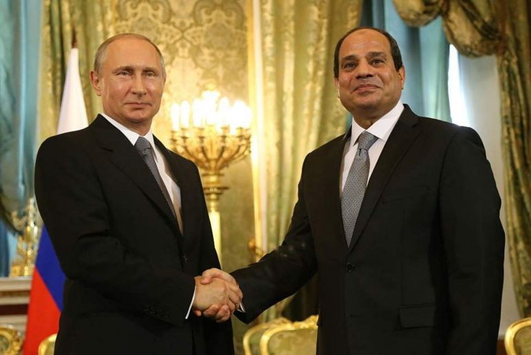 The leaders of Russia and Egypt have been accused of cracking down on the opposition