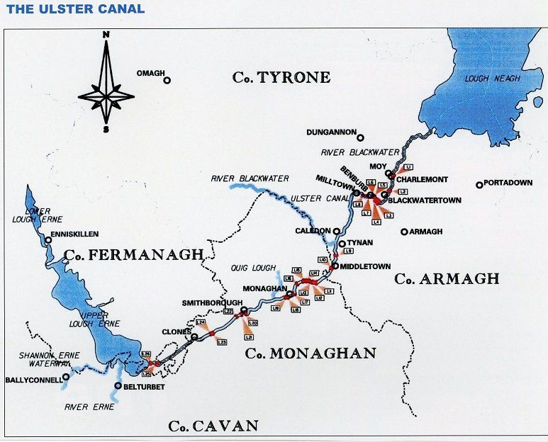 Ulster Canal map