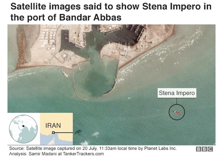 Stena Impero satellite image