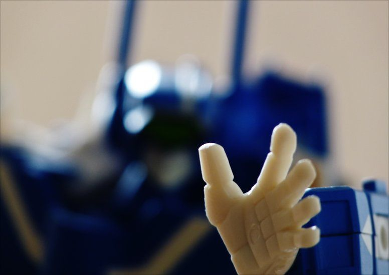 The hand of a Robotech model
