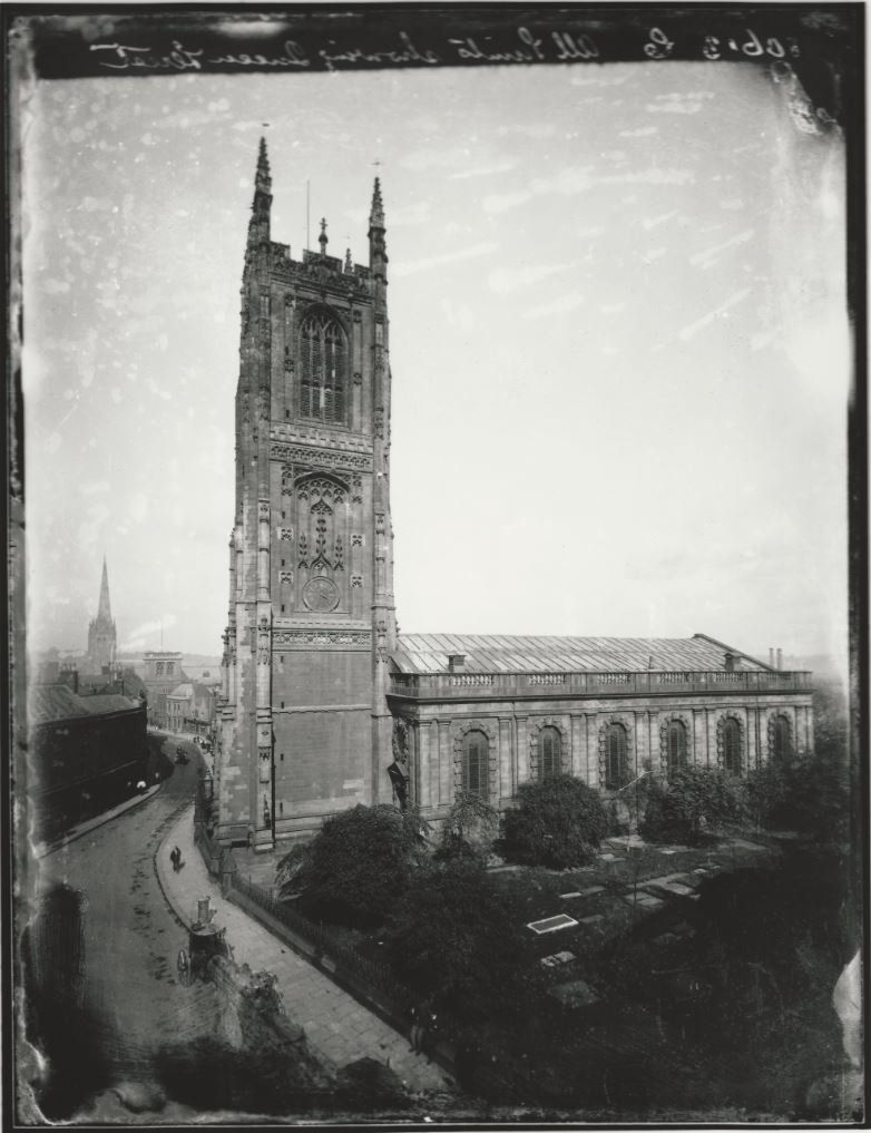 Derby Cathedral photograph taken between 1873 and 1880