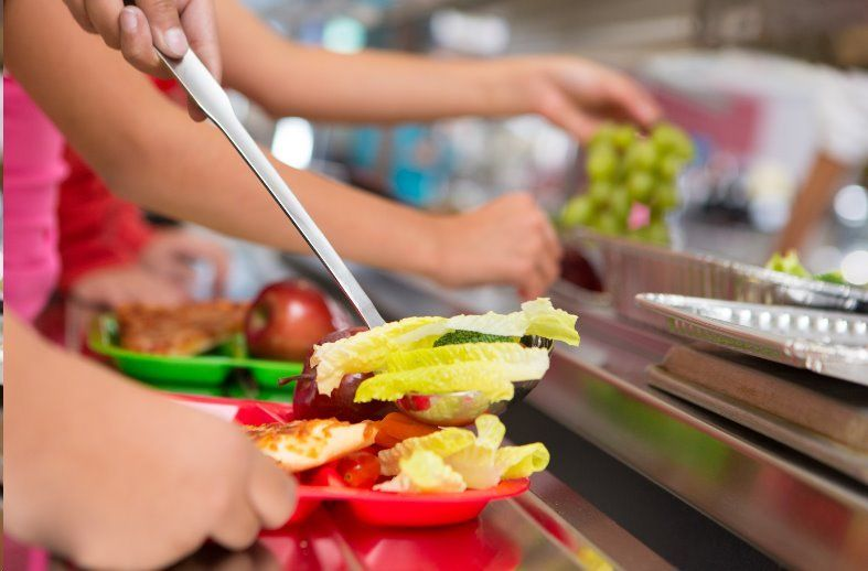 School meals being dished out