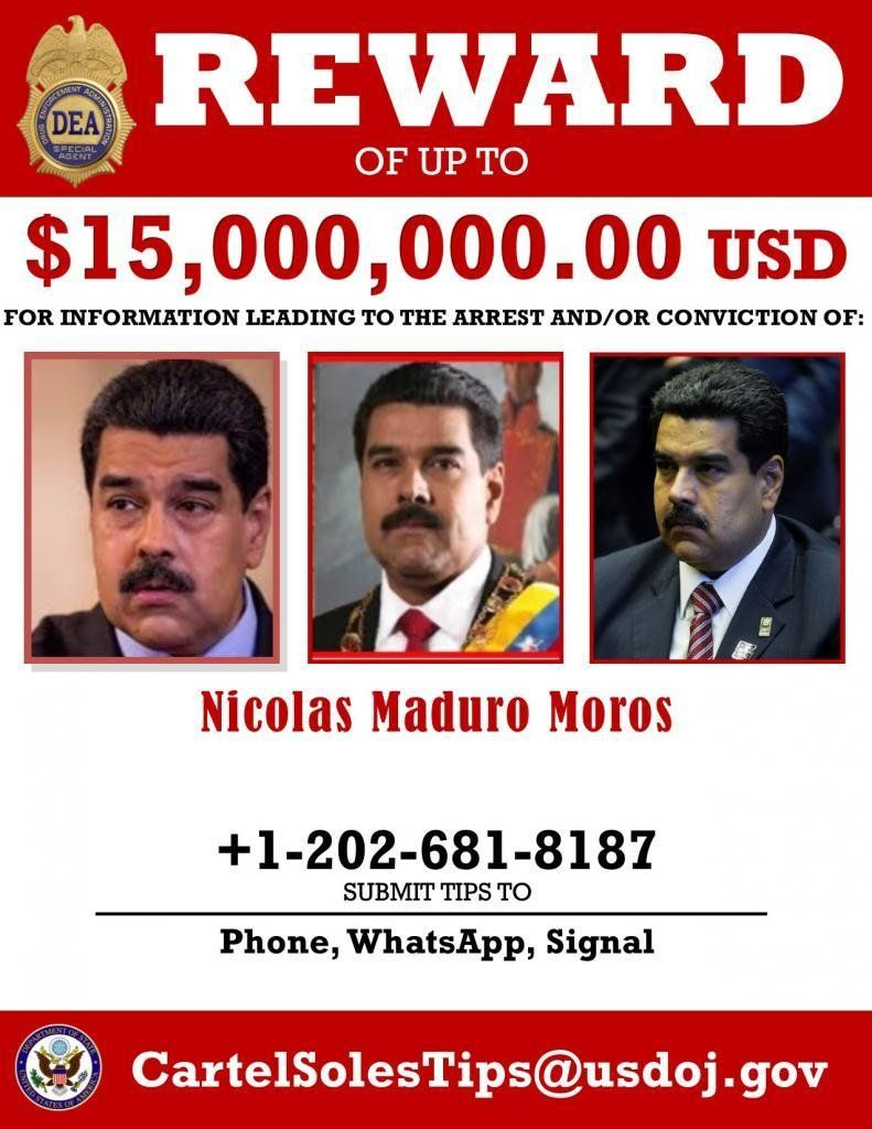 Wanted poster released by the US Department of Justice