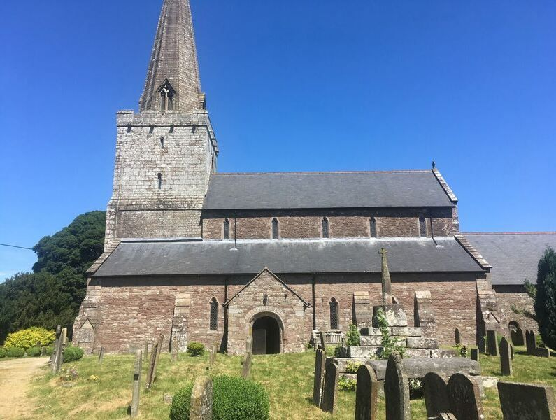 Trellch's key feature - the Church of St Nicholas, Trellech, first built in the 14th Century. Trellech also sees frequently archaeological digs around the village