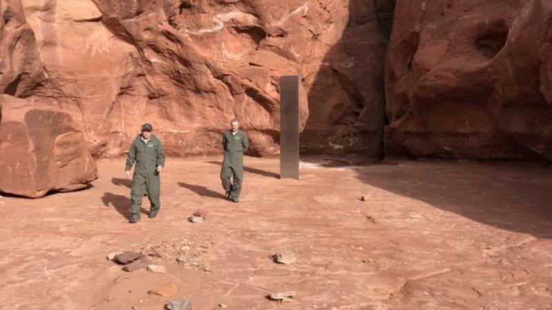 مونولیت 'عجیب و غریبی' در مناطق دورافتاده یوتا کشف شد