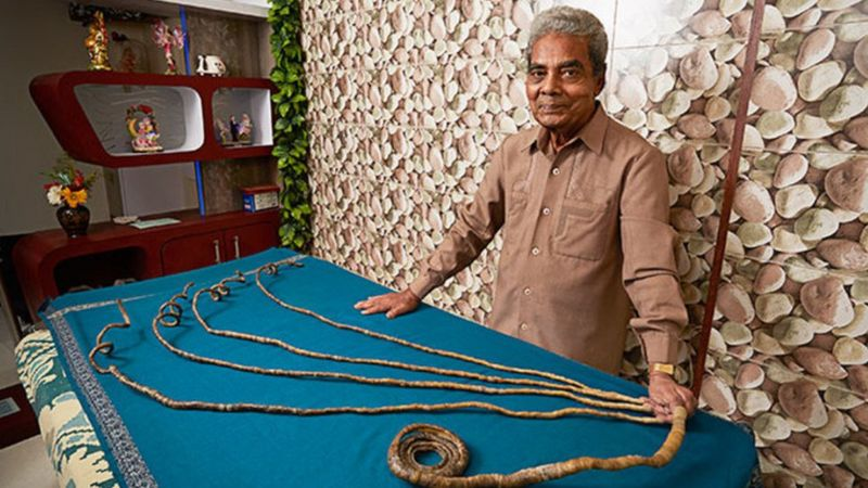 Guinness World Record holder Shridhar Chillal finally has his nails ...