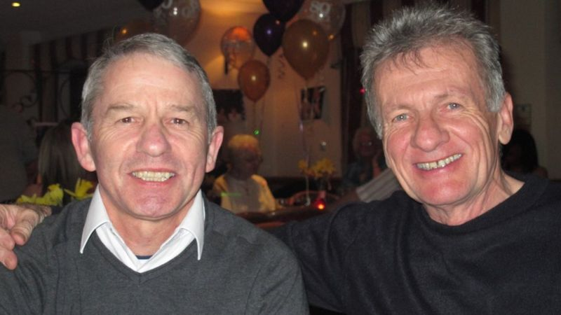 Stephen Taylor (left) with his brother John