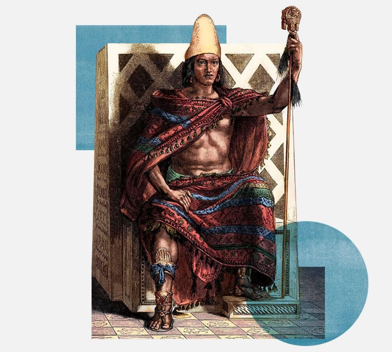 Grabado de Moctezuma II