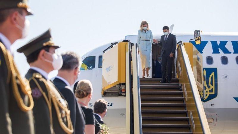 Олена Зеленська разом з президентом літає з візитами до інших країн