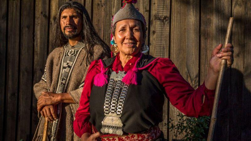 Miembros de la comunidad mapuche en Chile.