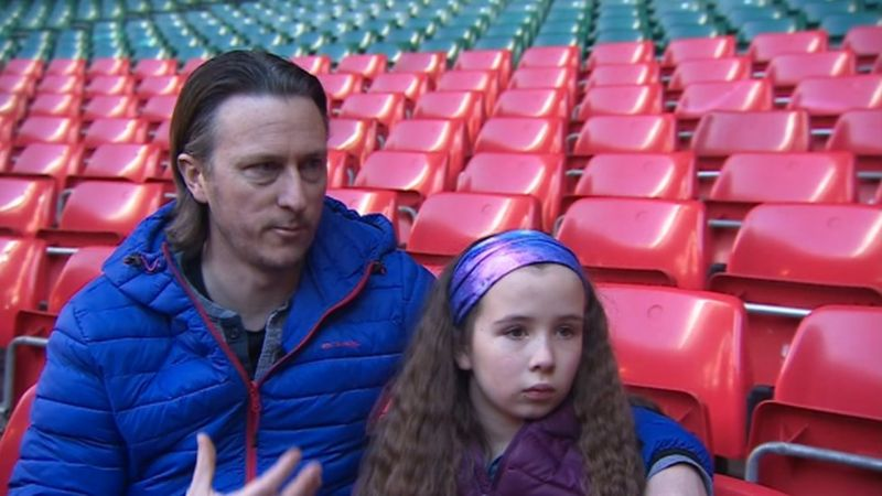 Chris Toozer and his daughter Phoebe
