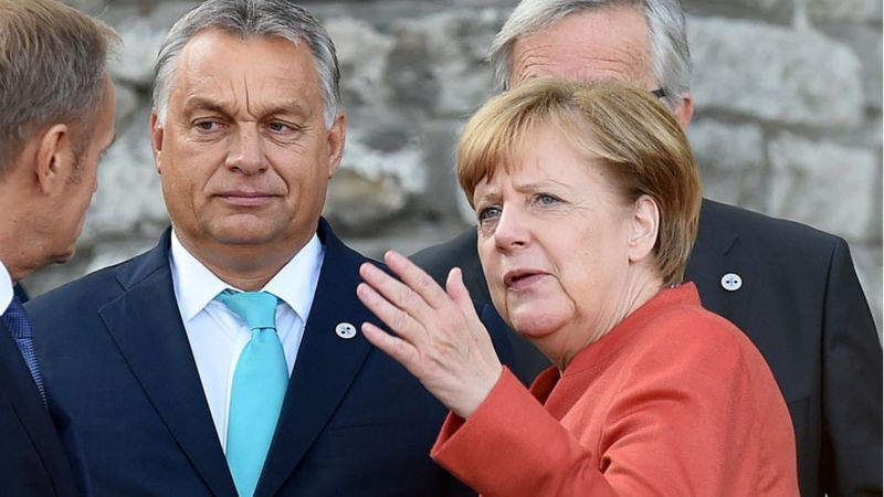 Orbán y Merkel