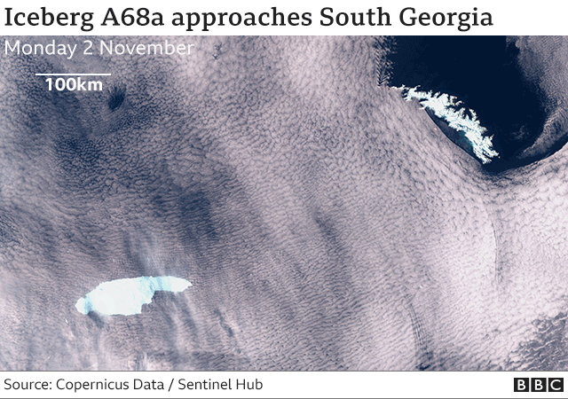 A68 iceberg on collision path with South Georgia _115211747_a68a-nc
