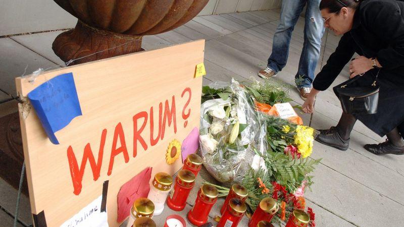 Homenaje luego de una matanza en Alemania.