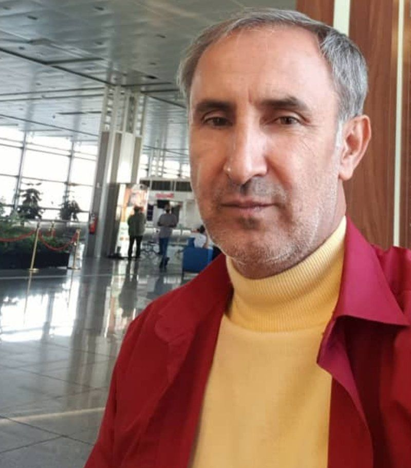 Hamid Nouri at the airport in Iran before he boarded his flight