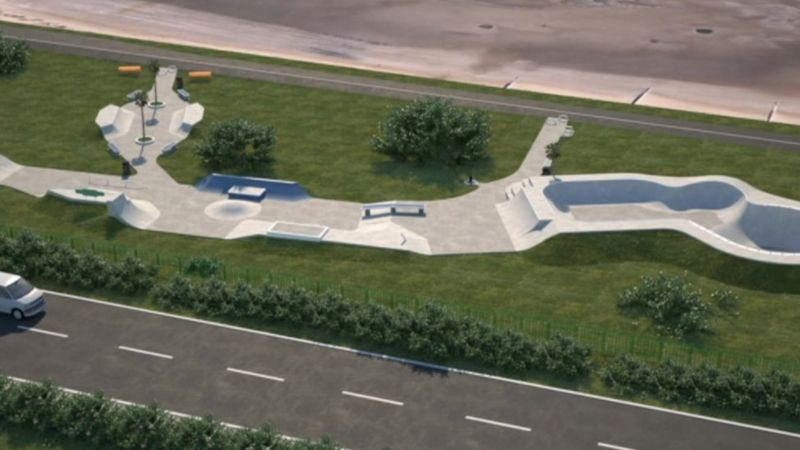 An artist impression of the proposed skate park