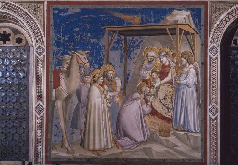 """На фресці Джотто """"Поклоніння волхвів"""" Вифлеємська зірка зображена у вигляді комети"""