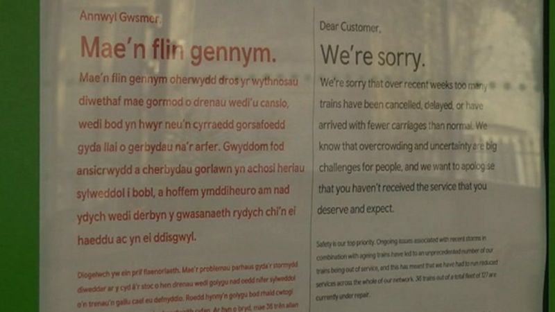 Apology from TfW