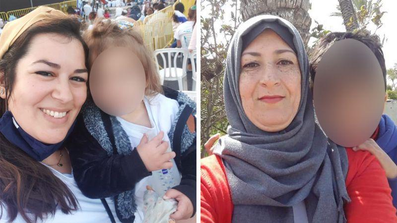 Tova Levy (kiri) dan Najwa Sheikh-Ahmad (kanan) merasa khawatir tentang keselamatan anak-anaknya selama pertempuran yang makin memburuk.