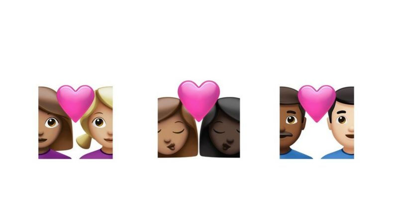 New mixed race couple emojis