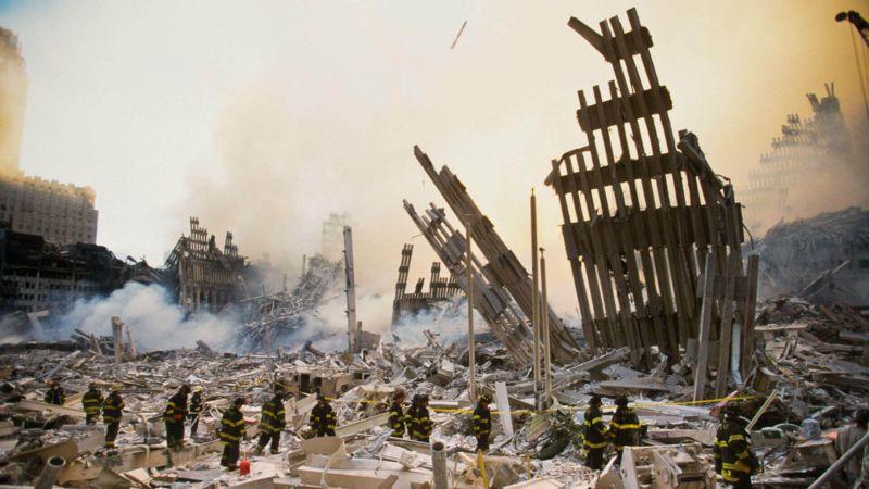 Destrucción tras la caída de las dos Torres Gemelas