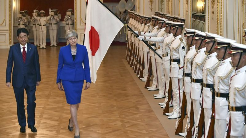 英國首相特里莎·梅和日本首相安倍晉三