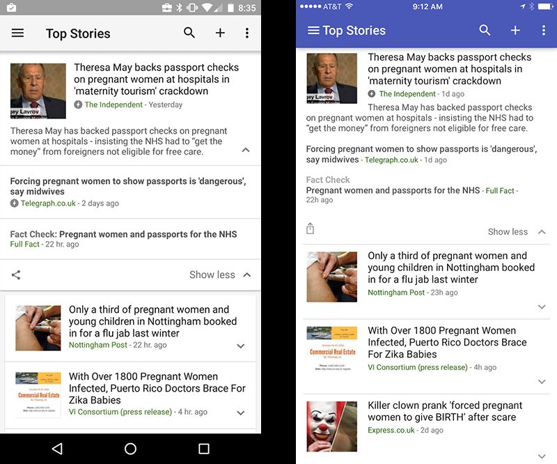 This is how fact check will look on a mobile device