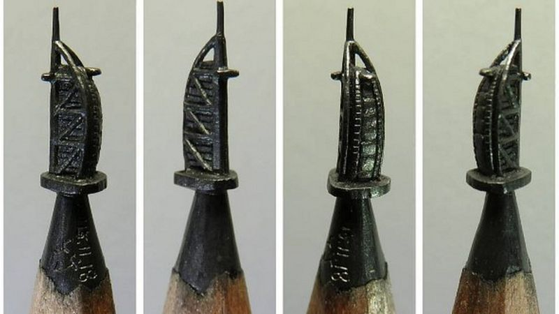 Amazing miniature sculptures in the tip of a pencil cbbc newsround