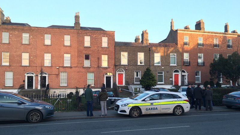 The house in Ranelagh has been cordoned off