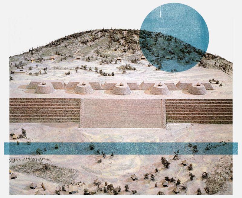 Reproducción del centro ceremonial de Tzintzuntzan.